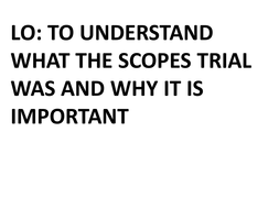 What was the Scopes Trial?