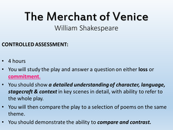 Merchant of Venice and Poetry Comparison CA - WJEC