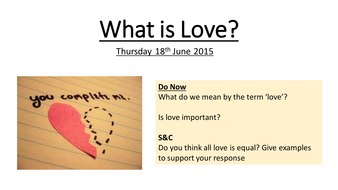 What is Love? WJEC