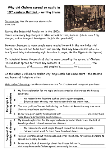 industrial revolution towns of the industrial revolution and the  industrial revolution towns of the industrial revolution and the sp of cholera by lizzie tarpy teaching resources tes