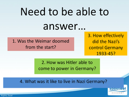 Nazi Germany In Depth Study Revision Lecture