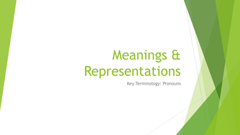 AQA A Level Language Meanings and Respresentations