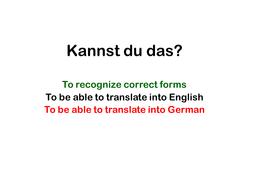 Translation Exerc Misc