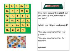 Welsh second language scrabble task