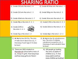 Sharing Ratio RAG Worksheet