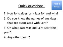 Lent - R.E. - Key Stage 3