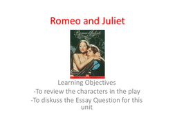 Romeo and Juliet: How is Love Presented?