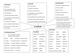 Publicity in French