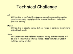 technical skills pastry challengepptx - Different Types Of Technical Skills