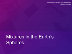 Mixtures in the Earth's Spheres