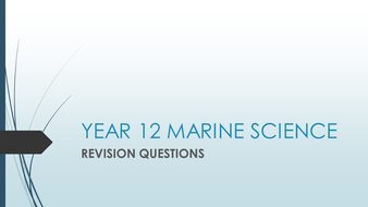 AS Marine Science Revision Quiz - topics 2-4