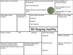 OCR 21C B2 Revision Sheets
