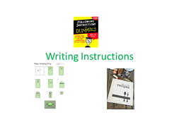 Lesson  for KS3 Writing Instructions