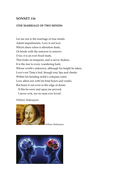 'Sonnet 116- The Marriage of Two Minds' by William Shakespeare