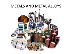 AS Design and Technology metals and alloys revision presentation.