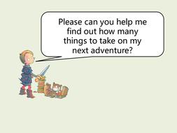 Simple word problems (Sir Charlie Stinky Socks)