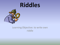 Riddles Powerpoint and Worksheet. Used for my SEN class. 3 Differentiated Worksheets