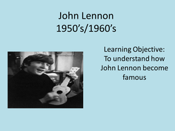 John Lennon 1940's -1980's power points and  activities