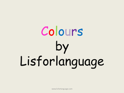 Color flashcards for Early Years