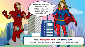 Learn Similes and Metaphors with Metaphor Man and Simile Sally