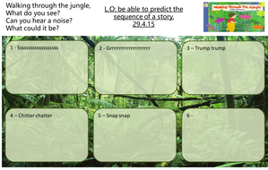 Walking through the jungle - Story sequence/prediction/hunt