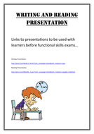 Writing and Reading Entry Level Functional Skills Presentation