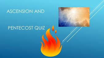 Ascension and Pentecost Quiz