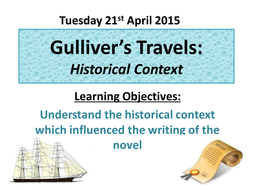 Gulliver's Travels Historical Context and Creative Writing