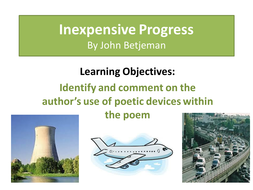Poetry: Inexpensive Progress - John Betjeman