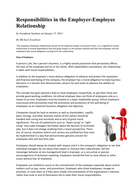 OCR A2 Business Ethics. Responsibilities in the employee/ employer relationship