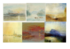 Turner Landscape Watercolor Painting