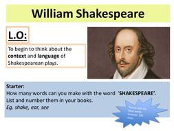 A Midsummer Night's Dream (MSND) Shakespeare Play Scheme