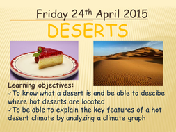 Deserts Location and Climate