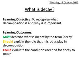 What is Decay?