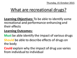 What are recreational drugs?