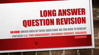 Long answer Revision