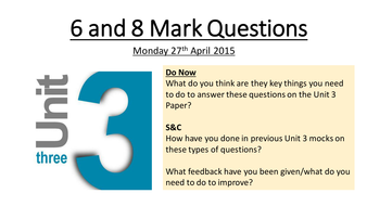 6 and 8 Mark Question Revision