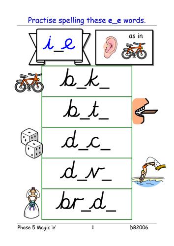 Printables of Split Digraph Ie Worksheets - Geotwitter Kids Activities