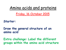 Revision on proteins