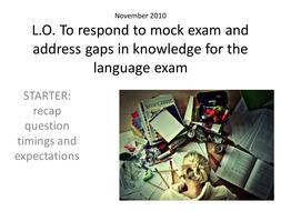 Nov 2010 IGCSE 0522 mock exam (walk through)