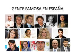 Famous spanish people. Jobs and verbs