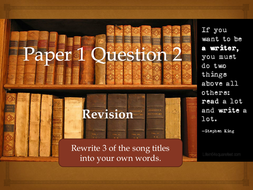 iGCSE English Paper 1 Question 2