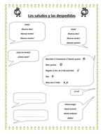 Spanish  IGCSE Ab Initio - Vocabulary sheets