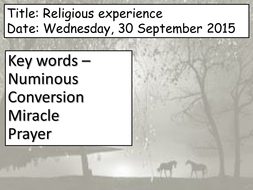 Religious Experience- Belief in God Unit