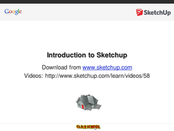 """PowerPoint to accompany Google Sketchup """"Getting Started"""" Videos"""