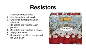 Resistance and Resistors Introduction