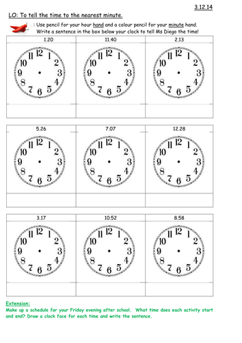New Curriculum 2014: 'Time', Maths for Year 3 by Carla_Maestra ...