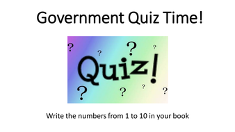Government Revision Quiz
