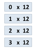 6, 12 times table games and activities