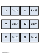 Times tables dominoes